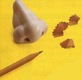 taille crayon en forme de nez